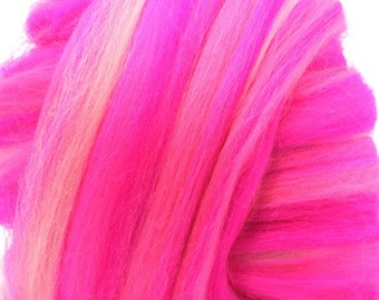 Merino Wool Combed Top/Roving by the Pound - Proudly Pink