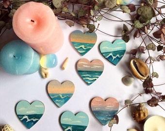 Heart Shaped Ocean Pin/Brooch