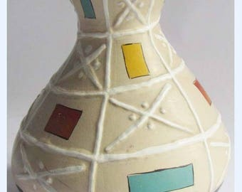 Rare Vintage BRENTLEIGH WARE 1950s Atomic Retro Gourd Shaped Vase: LORCA