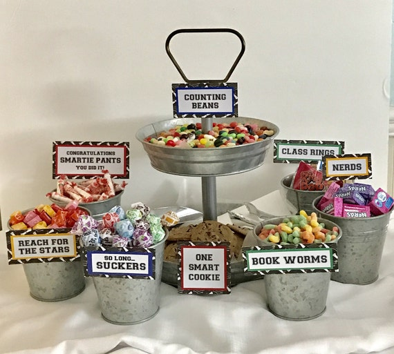 Graduation candy signs set of bar sign