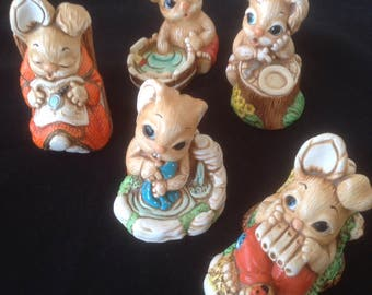 Woodlander Bunnies set of 5