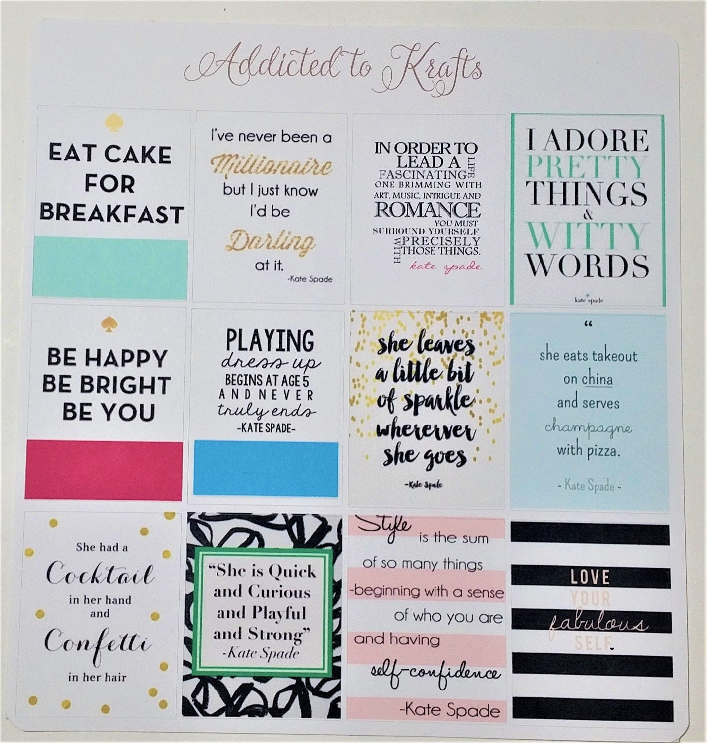 Kate Spade Quotes Fair Kate Spade Quotes Planner Quotes Planner Weekly Layout Planner