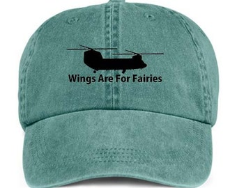 CHINOOK HELICOPTER WINGS Are For Fairies Baseball Style Cap Hat