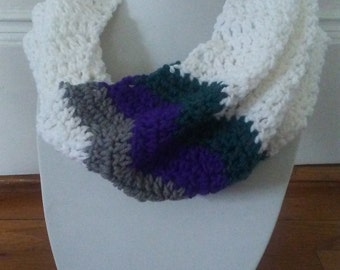 Crocheted Chevron cowl