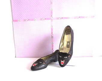 Tiger ballerina pumps-ENZO OF ROMA-Paire de ballerine souris-Chaussures femme-Chaussures vintage-Ballerina pumps