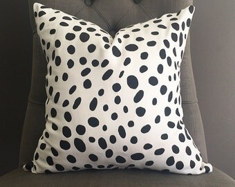 Pillow Cover, Black and White Pillow Cover, ROSITA