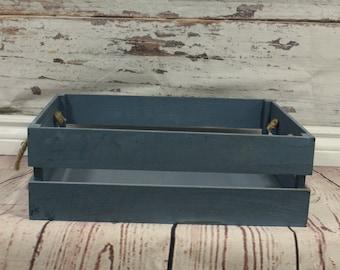 Wood box,  rustic style box, newborn photography prop, newborn prop, photography prop, blue wooden  Ready to go!!!!