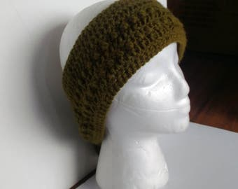 Olive Headband with Button Closure