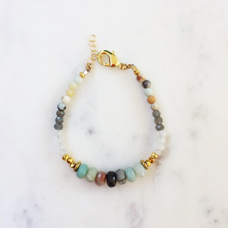 Amazonite Beaded bracelet| Raw Gemstones | Beaded Bracelet |