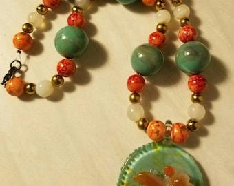 Koi Dreams 18 Inch Chunky Beaded Necklace