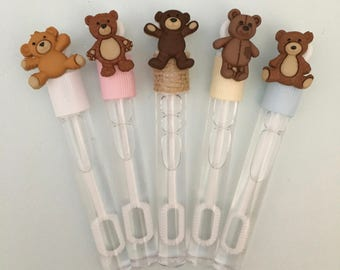 Teddy Bear Bubble Favor - Teddy Bear Party Favor, Teddy Bear Baby Shower Party Supplies, First Birthday Party Supplies
