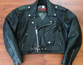 Vintage LA ROXX Motorcycle Jacket - Leather - Fits like a S/M - USA