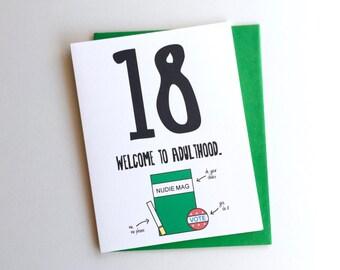 Funny 18th Birthday Card // 18th Birthday Card //