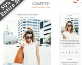 WordPress Theme, Responsive WordPress Theme, WordPress, WordPress Blog Theme, WordPress Blog Design, WordPress Template, Confetti