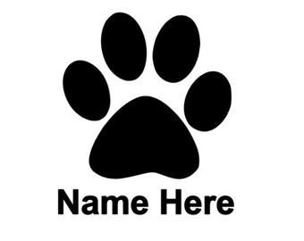 Custom Pet Paw Design it your way