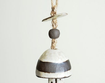Made to Order   Mini mushroom bell, ceramic bell, chime, tree ornament, by MUD TO LIFE