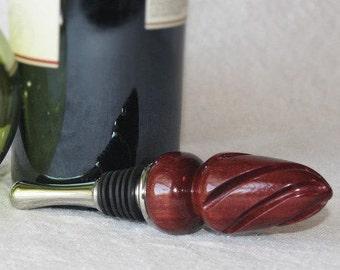 Wine/Bottle Stopper Hand Turned Paduak