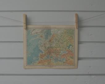 1956 Vintage Map of Europe