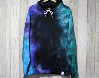 TyreDyes Tie Dye Hoodie Black/Blue/Green