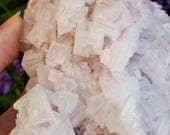 SALE! --- 25% OFF! --- Pink Cubic Halite Cluster - Searles Lake, California - Heart Chakra - Metaphysical Healing Crystals + Stones