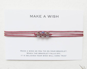 Wish bracelet, make a wish bracelet, friendship bracelet, W62