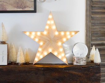 Wooden Star Light - Nordic Decor - BEST SELLER