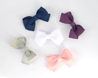 Solid Color Bows for Babies | Toddlers Girls Classic Hair Bows for Girls | Simple Hair Bow | Bows for Hair | School Bow | Baby Toddler Bow