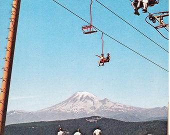 Vintage 1960's White Pass Washington Ski Lift Postcard