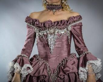 Marie Antoinette Dress, 18th Century Dress, Marie Antoinette Costume, 18th Century Corset, Masquerade Costume, Carnival of Venice.