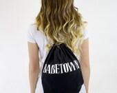 SALE Babetown Drawstring Bag
