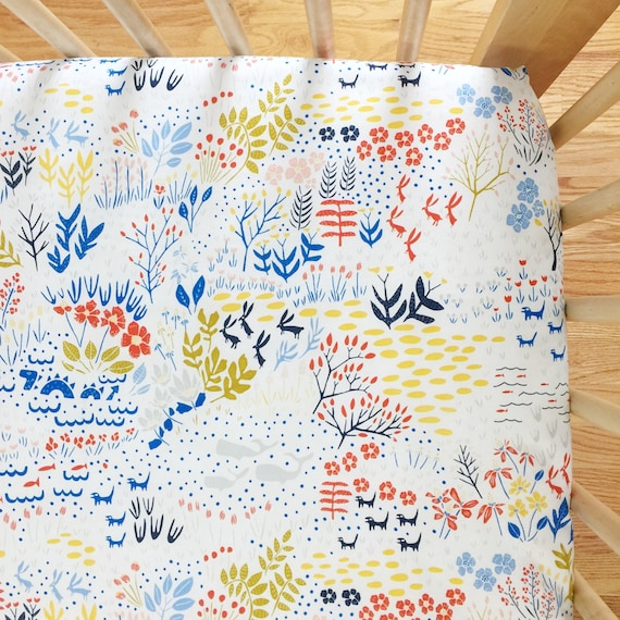 Organic Crib Sheet - 'Lore' Once Upon a Time in Multi - MADE-to-ORDER