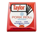 """Taylor Ham Magnet Pork Roll Magnet New Jersey Magnet NJ Magnet Trenton 1.5 inch Magnet 1.5"""" Square Magnet"""