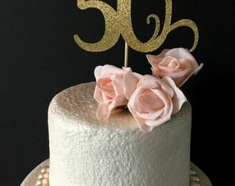 50th birthday cake topper .. happy birthday .. cake topper .. party .. customized 50th birthday topper
