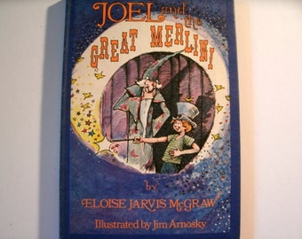 Joel and the Great Merlini, Eloise Jarvis McGraw, Vintage 1970s Children's Book, Weekly Reader, 1979
