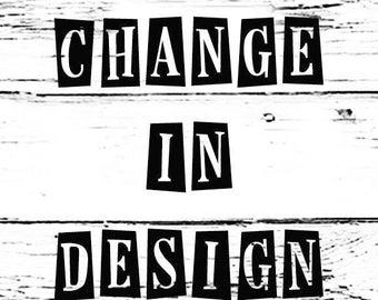 Design change - colour words phrases font changes to design!