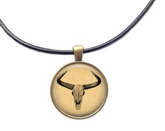 Skull necklace Anatomy pendant Medical jewelry