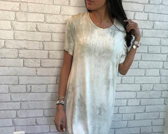 Short sleeve dress, ovesized dress - alma