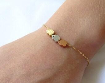 Triple Hedgehog Bracelet, Gold silver and Rose gold hedgehog, Layering  Bracelet, Gold hedgehog Bracelet