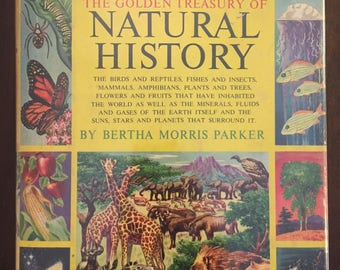 The Golden Treasury of Natural History, vintage 1952 illustrated children's reference