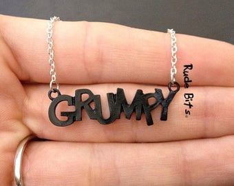 here comes the grump necklace