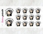 A625 | CLEANING stickers - Wednesday clean stickers, emotion stickers, planner stickers, wash stickers, chores stickers, eclp stickers