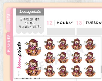 A810 | CRAFT TIME stickers Keenachi Perfect for Erin Condren Life Planner, Filofax, Plum Paper & ...