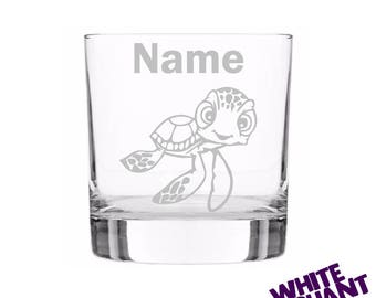 Etched Nemo Turtle Personalised Tumbler/High-Ball/Pint Glass