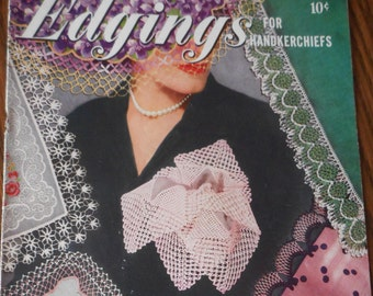 Vintage Crochet and Hairpin Lace Edgings Booklet - Coats and Clark
