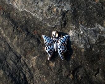 Sterling Silver Butterfly Pendant - #306