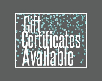 Sandtastic Signs Gift Certificate