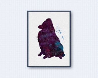 Shetland Sheepdog Watercolor Poster