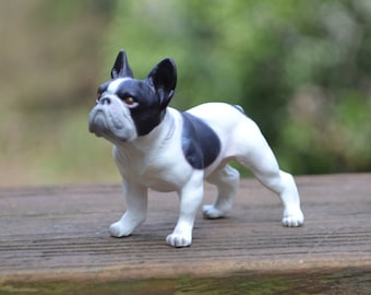 Black and White Frenchie French Bulldog for use in a Fairy Garden