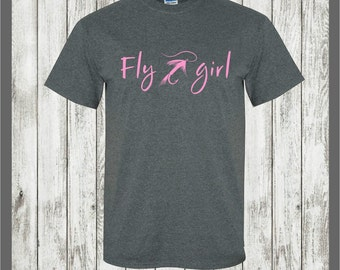girl Fly Fishing t-shirt, trout fishing,fisherman,rainbow trout,brown trout,brook,bass,salmon,hiking,camping,outdoors,country,camper,cabin