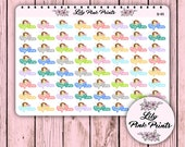 64 Nap Time Stickers N-44 - Perfect for Erin Condren Planner Stickers / Life Planners / Journals / Stickers.